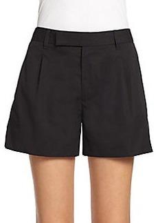 Marc Jacobs Pleat-Front Cotton Shorts