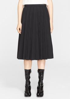 MARC JACOBS Pleated Wool Gabardine Skirt