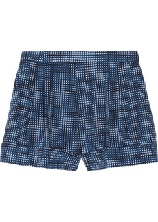 Marc Jacobs Printed wool-twill shorts