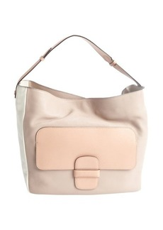 Marc Jacobs rose and white lambskin colorblock shoulder bag