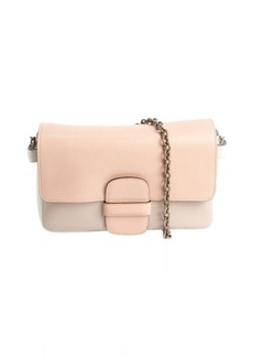 Marc Jacobs rose multi-color leather braided chain shoulder bag