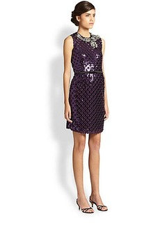 Marc Jacobs Sequined Eyelet Shift