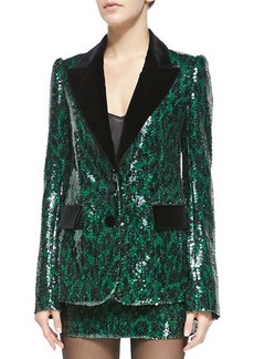 Marc Jacobs Sequined Leopard Two-Button Jacket