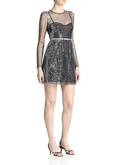 Marc Jacobs Sequined Stripe Dress