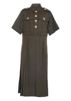 Marc Jacobs Shantung-silk military dress