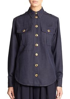 Marc Jacobs Silk Military Shirt