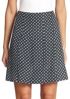 Marc Jacobs Silk Pleated Skirt
