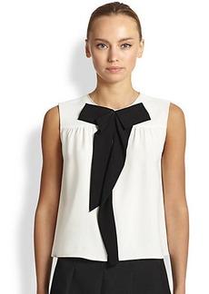 Marc Jacobs Sleeveless Silk Bowtie Blouse
