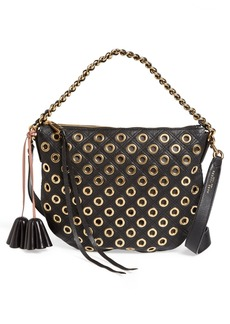 MARC JACOBS 'Small Nomad' Quilted Eyelet Leather Hobo