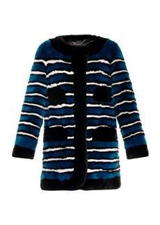 Marc Jacobs Striped fur coat
