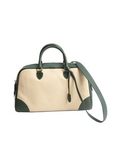 Marc Jacobs taupe and green leather 'The Venetia' top handle bag