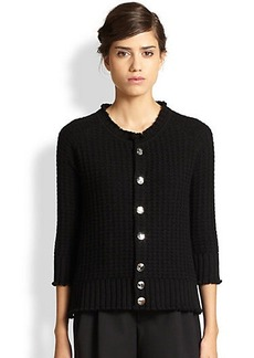 Marc Jacobs Textured Cashmere Cardigan