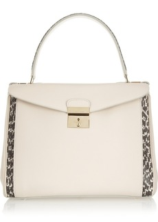 Marc Jacobs The Metropolitan elaphe-trimmed leather tote