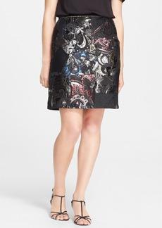 MARC JACOBS Velvet Detail Metallic Brocade Patchwork Skirt