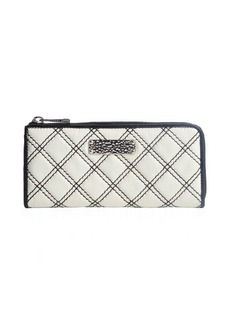 Marc Jacobs white and black eather zip around continental wallet
