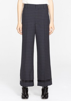 MARC JACOBS Wide Leg Worsted Wool Check Crop Pants