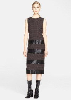 MARC JACOBS Worsted Wool Check Dress with Bugle Bead Detail