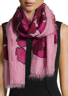 Petal-Print Scarf, Pink   Petal-Print Scarf, Pink