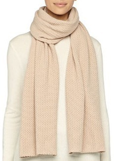 Textured Knit Scarf, Camel   Textured Knit Scarf, Camel