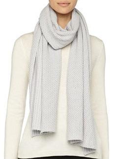 Textured Knit Scarf, Gray   Textured Knit Scarf, Gray