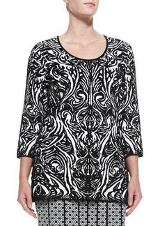 Marina Rinaldi Ande Printed Jacquard Knit Top, Women's