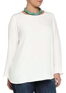 Marina Rinaldi Bastia Long-Sleeve Silk Top, Women's
