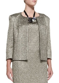 Marina Rinaldi Carrozza Jacquard Metallic Short Jacket, Women's