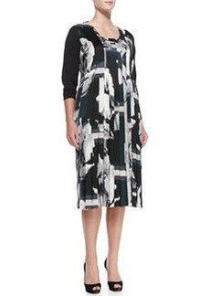 Marina Rinaldi Dentro Printed Long-Sleeve Dress, Women's