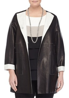Marina Rinaldi Double-Face Leather Jacket  Double-Face Leather Jacket