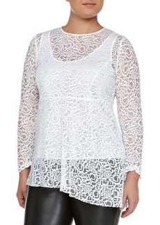 Marina Rinaldi Facilita Long-Sleeve Lace Tunic, Women's