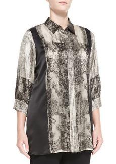 Marina Rinaldi Falco Printed 3/4-Sleeve Blouse, Women's