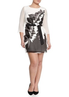 Marina Rinaldi Fastoso Floral-Print Belted Tunic/Dress, Women's