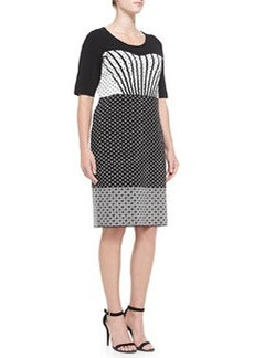 Marina Rinaldi Gigi Mixed-Print Jacquard Dress, Women's