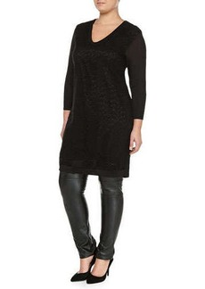 Marina Rinaldi Grace Crochet Knit Tunic/Dress, Women's