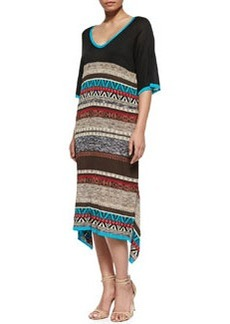Marina Rinaldi Graphic-Print Giraffa Long Dress, Women's