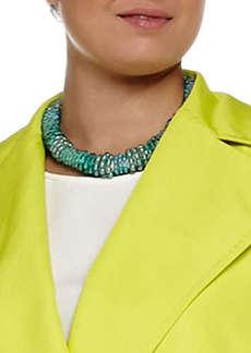Marina Rinaldi Laser Beaded Tube Necklace