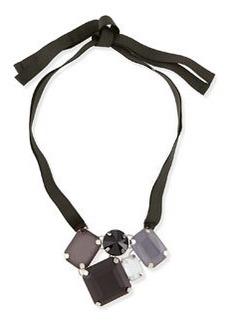 Marina Rinaldi Lode Crystal Necklace, Black