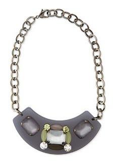 Marina Rinaldi Lulu Acrylic & Crystal Bib Necklace