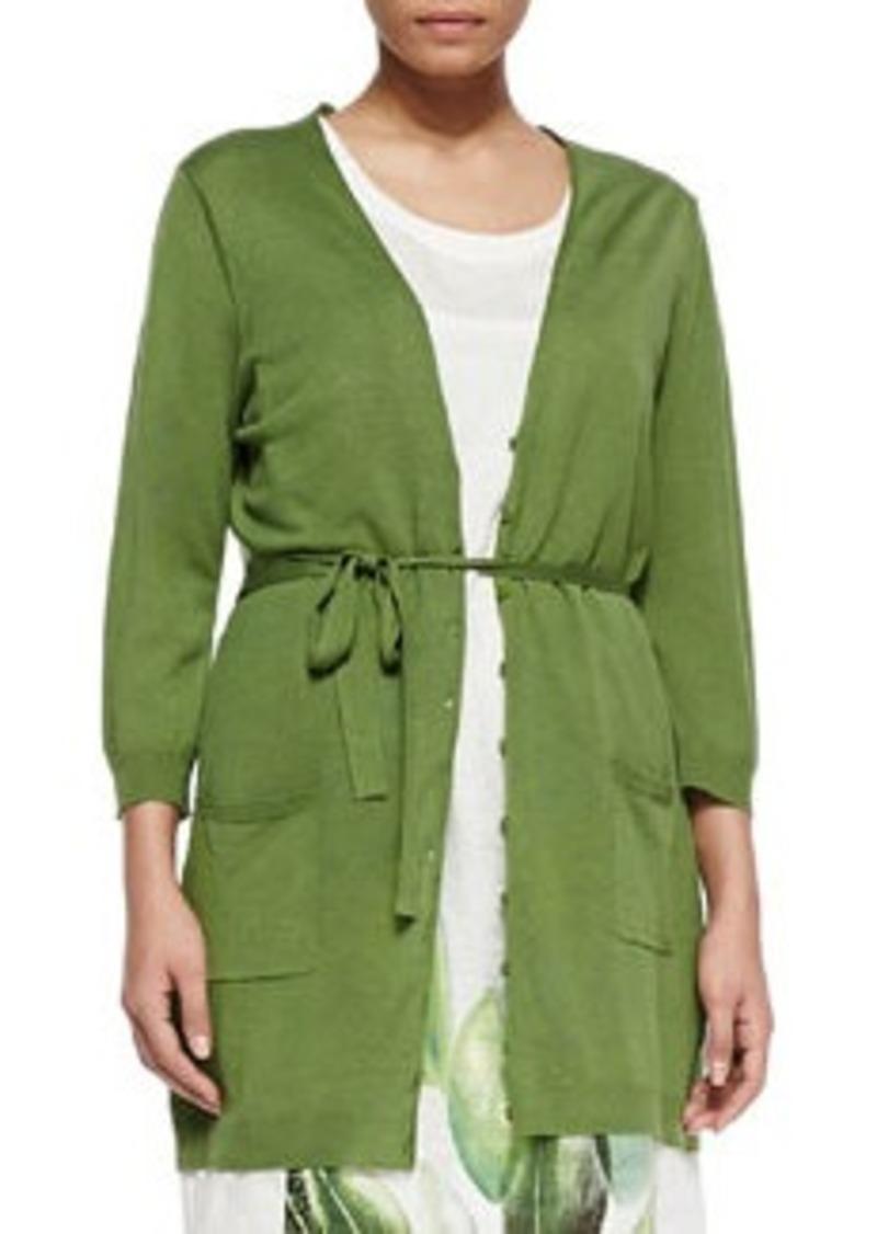 Marina Rinaldi Matilde Silk-Blend Tie-Waist Jacket, Women's