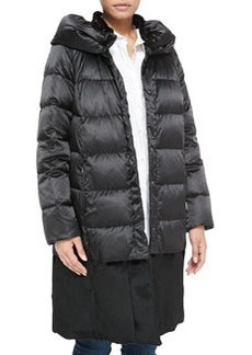 Marina Rinaldi Melbourne Quilted Fur-Collar Puffer Coat, Women's