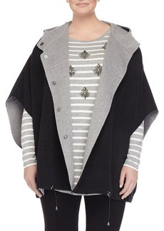 Marina Rinaldi Nadine Wool-Blend Cape Coat
