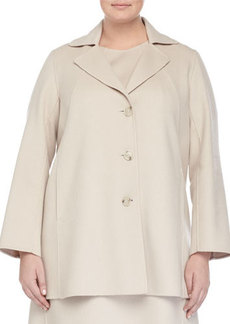 Marina Rinaldi Nettuno Wool-Blend Short Coat
