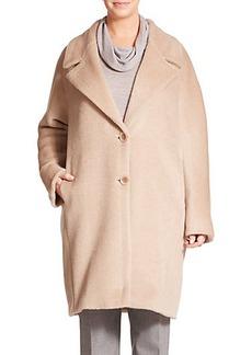 Marina Rinaldi, Plus Size Alpaca-Wool Cocoon Coat