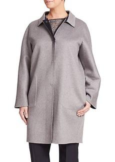 Marina Rinaldi, Plus Size Cashmere Reversible Coat
