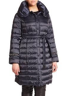 Marina Rinaldi, Plus Size Embellished Down Puffer Coat