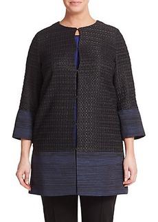 Marina Rinaldi, Plus Size Jacquard Jacket