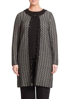 Marina Rinaldi, Plus Size Jacquard Sweater Coat