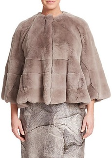 Marina Rinaldi, Plus Size Paneled Fur Jacket