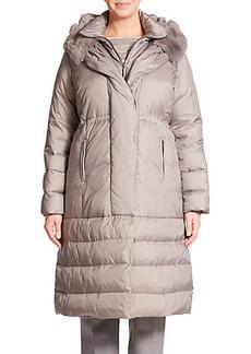 Marina Rinaldi, Plus Size Petunia Fur-Trimmed Puffer Coat