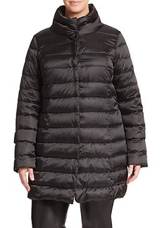 Marina Rinaldi, Plus Size Reversible Quilted Puffer Jacket